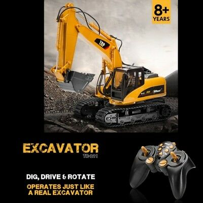 Remote Control Construction Tractor Backhoe Loader RC Toy Excavator Wheeled Toys