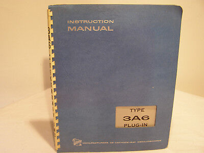 Tektronix Type 3A6 Plug-In Unit  Instruction Manual