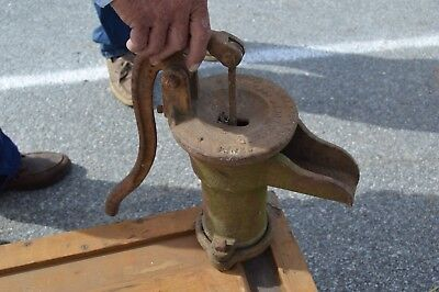 Antique Goulds Well Water Hand Pump Seneca Falls NY Cast Iron Signed