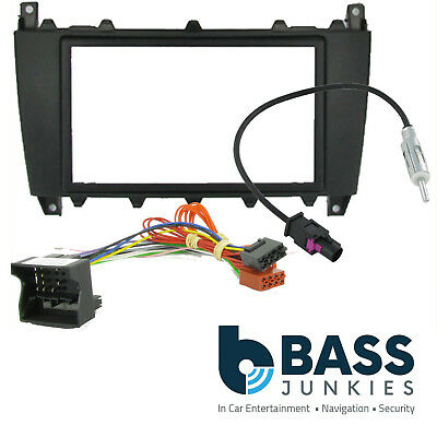 Mercedes Benz C Class W203 2005-2007 Car Stereo Fascia ISO & Cage Kit CT23MB03A