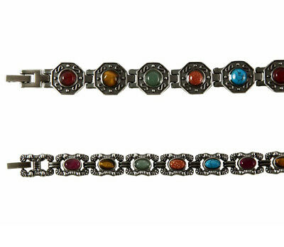 Ladies MagneticTherapy Arthritis Bracelet Burnished Silver Tone 2 Styles L4