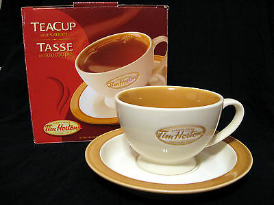 """Tim Hortons Collectable Tea Cup & Saucer Set with Box """"Always Fresh"""""""
