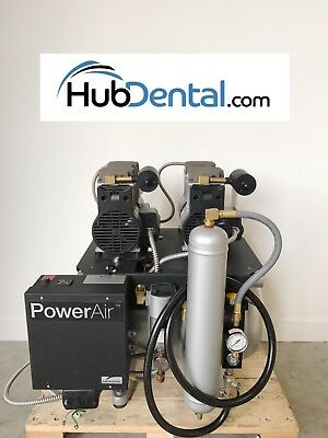 Midmark Power Air P21 Dental Air Compressor  Dual Head **Used Only 740 Hours