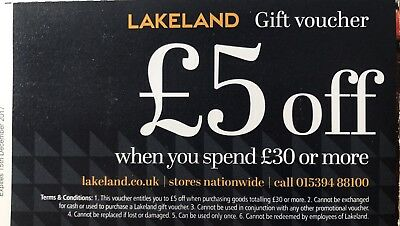 Lakeland Voucher £5 Off £30 Spend or more In store or Online