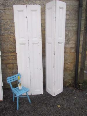 Vintage Wooden Shutters French Folding Reclaim Cladding 2Mt Tall Reclaimed