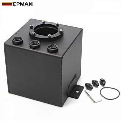 EPMAN 2L Sliver Dual BILLET ALUMINIUM AN6 FUEL SURGE TANK Fit For 044 Bosch Pump
