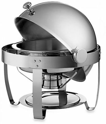 New Sale Tramontina 6-Quart Round Stainless Steel Chafing Dish with Roll-Top Lid