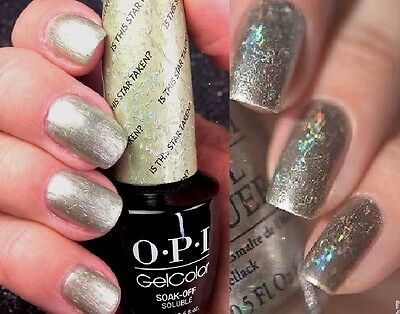 Opi Gelcolor Is This Star Taken Gold Holographic Glitter Uv Led Gel Nail Polish
