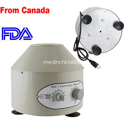 Electric Centrifuge Machine 4000rpm Lab Medical Practice CE ISO【Canada FAST】