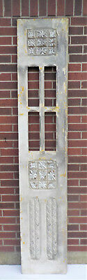 "SPANISH COLONIAL ANTIQUE WOODEN DOOR OLD MEXICO 91 1/4"" x 17 1/2"" x 1 3/8"" ""gg"""
