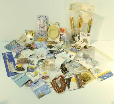 HUGE Lot Of Jewelry Making Supplies Craft Vintage Findings misc 3