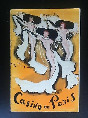 Ancien Programme revue Casino de Paris TBE