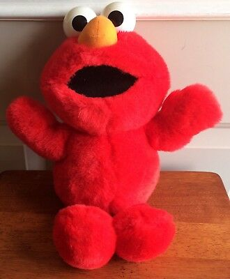"Tyco Original Sesame Street 16"" Tickle Me Elmo Stuffed Plush 1995"