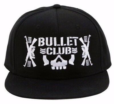 NJPW ROH Ring of Honor Bullet Club Logo Embroidered Snapback Ball Cap Hat
