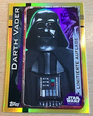 Topps Star Wars ROGUE ONE Limitierte Auflage LEMPA Darth Vader