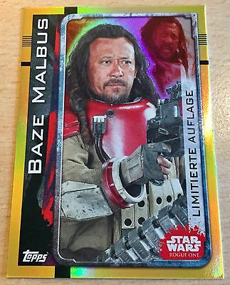 Topps Star Wars ROGUE ONE Limitierte Auflage LESB Baze Malbus