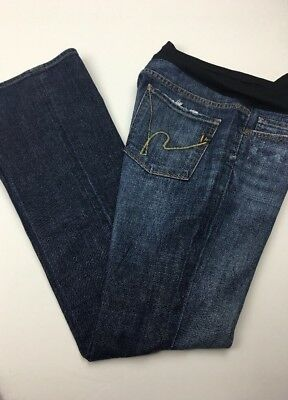 Citizens Of Humanity Maternity Belly Panel Stretch Bootcut Jeans Sz 31x33