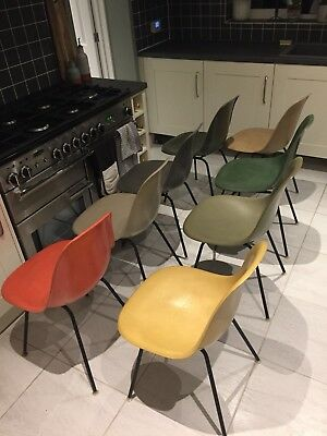 Set of Eight Herman Miller Eames DSX Chairs