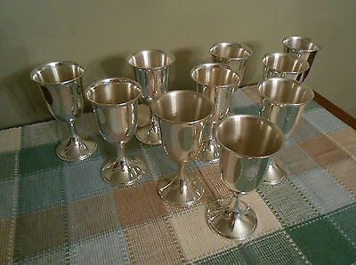 (10)  S. Kirk & Son Sterling 73 Wine Goblets (10) Exquisite