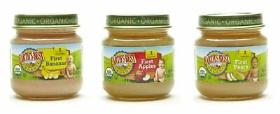 Earth's Best Organic Stage 1 Baby Food, My First Fruits Variety Pack Apples, and