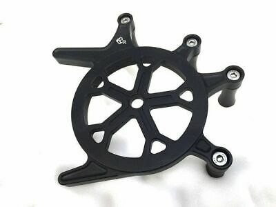 Front Sprocket Guard for Triumph Bonneville T100 & SE (Black & Spoked)