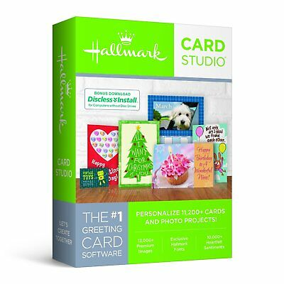 Hallmark Card Studio 2018 (Scrapbook) W/ $220 Bonus Software & $30 Gift Cards