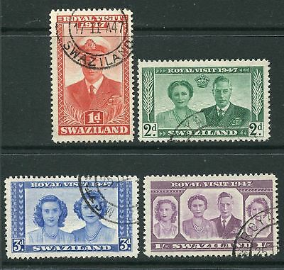 Swaziland: 1947  Royal Visit set of 4 stamps SG42-5 Fine Used AV013