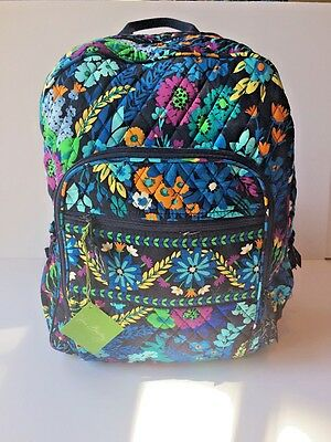 NWT Vera Bradley Large Campus Backpack in Midnight Blues