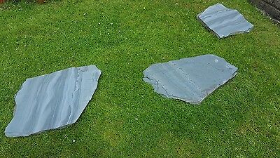 30 x Blue Green Stepping Stones / Paving Lakeland Slates Natural Shapes