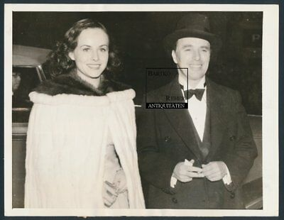 Charlie Chaplin & P. Goddard Original Foto 1935 am Biltmore Theater Los Angeles