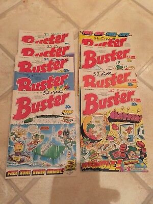 BUSTER COMIC JOB LOT X 9 Issues All 1989