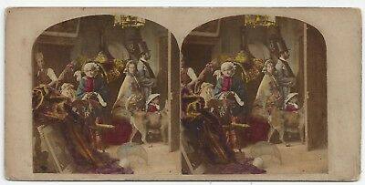 Stereo Tinted Stereoview Genre The Last Look Crinoline London J. Elliott 1850er