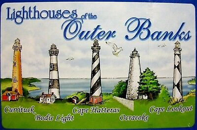 Lighthouses of the Outer Banks North Carolina Souvenir Playing Cards