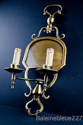 Vintage French Bronze Bistro Restaurant Sconce Wall Light Architecture 1900 old