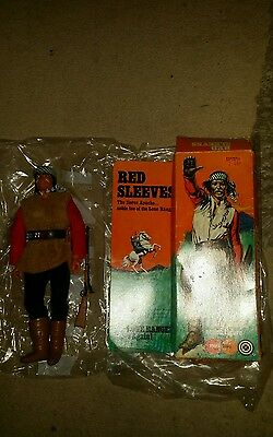 VINTAGE  Marx Toys 1970s Lone Ranger Red Sleeves Action Figure Gabriel 1975