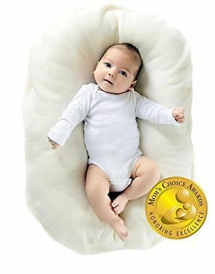 Snuggle Me Organic | Baby Lounger, Co-Sleeping Cushion, Bassinet Mattress 0-6 M