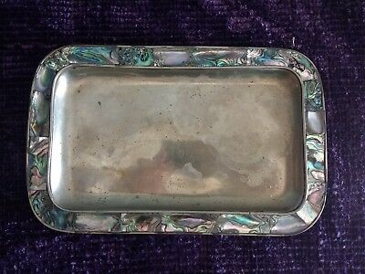 Abalone and Alpaca metal tray