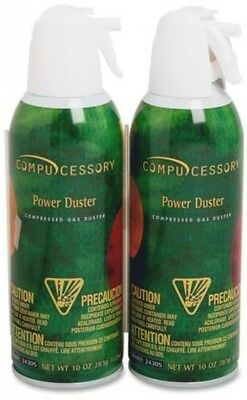Compucessory Air Duster Cleaner, Moisture-Free/Ozone Safe, 10.00 oz., 2/Pack