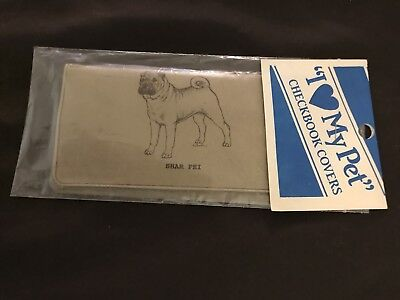 NEW VINTAGE Shar Pei CHECKBOOK COVER in Original Wrapping