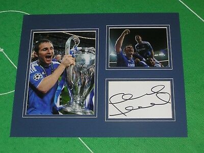 Frank Lampard Signed Chelsea FC 2012 Champions League Final Winners Mount