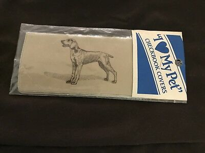 NEW VINTAGE Weimaraner CHECKBOOK COVER in Original Wrapping