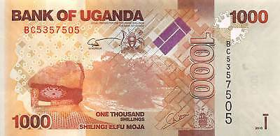 Uganda 1000 (1,000) Shillings, 2010 P.49 New Uncirculated Unc