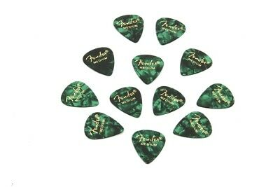 Fender 351 Premium Guitar Picks - Medium Green Mot