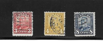 Canada King George V Scroll Issue 3 + 4 + 8 Cents ## 151 + 152 + 154 Used