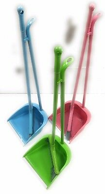 New Cleaning Dustpan Set With Broom And Handle Choose Your Color