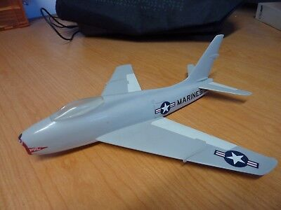 Vintage Plastic Marines Fj-4 Fury Jet Made By Topping Model