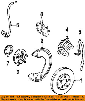 lincoln ford oem continental abs anti-lock brakes-front speed sensor  f8oz2c204a