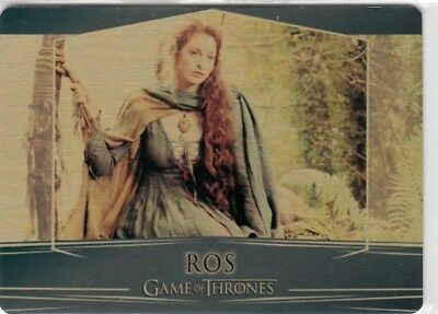 Game Of Thrones Valyrian Steel - Gold Parallel Metal Base Card 53 (004/100)