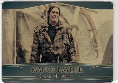 Game Of Thrones Valyrian Steel - Gold Parallel Metal Base Card 92 (017/100)