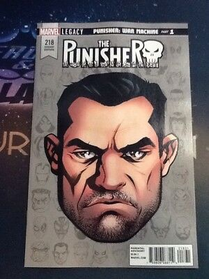 PUNISHER 218 MIKE McKONE HEADSHOT VARIANT MARVEL LEGACY TIE IN VF/NM (BR040)